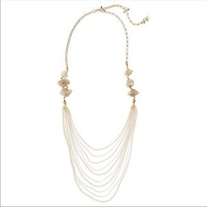 NEW Nakamol Agate Layered Chain Necklace